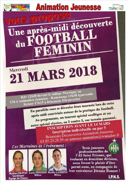Affiche Mercredi 21 Mars - Foot Féminin_1