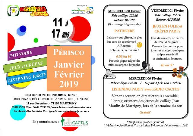 Affiche AJ Périsco Janvier-Février 2019_1
