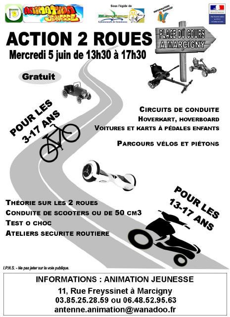 Affiche Action 2 roues - Mercredi 5 juin_1