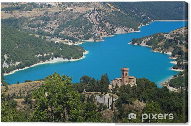 obrazy-na-platne-parco-nazionale-dei-monti-sibillini-il-lago-di-fiastra_1