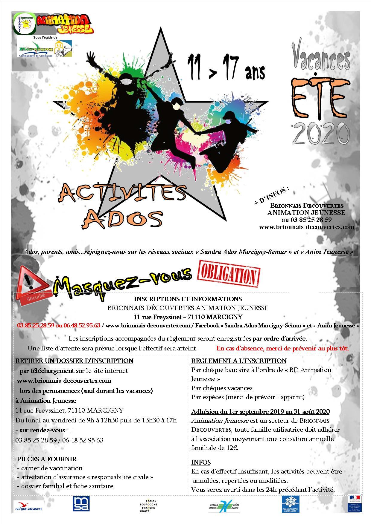AJ - Programme Eté 2020