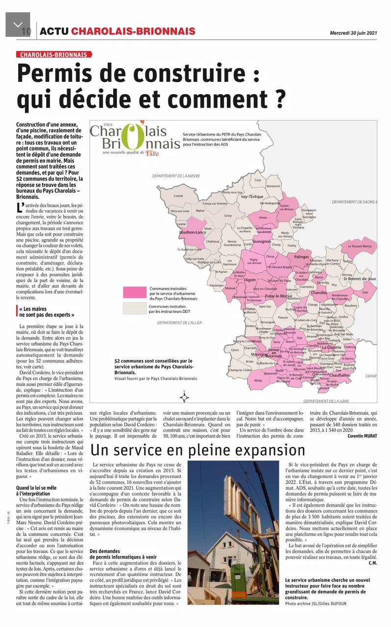 Urbanisme - PETR Service d'instruction 2021-06-30